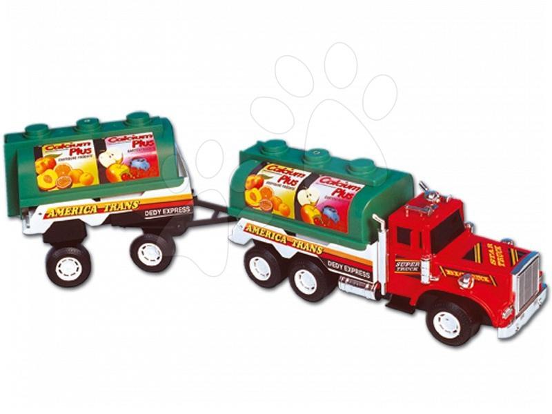 Teherautók - Tartályos teherautó Dohány pótkocsival hossza 60 cm