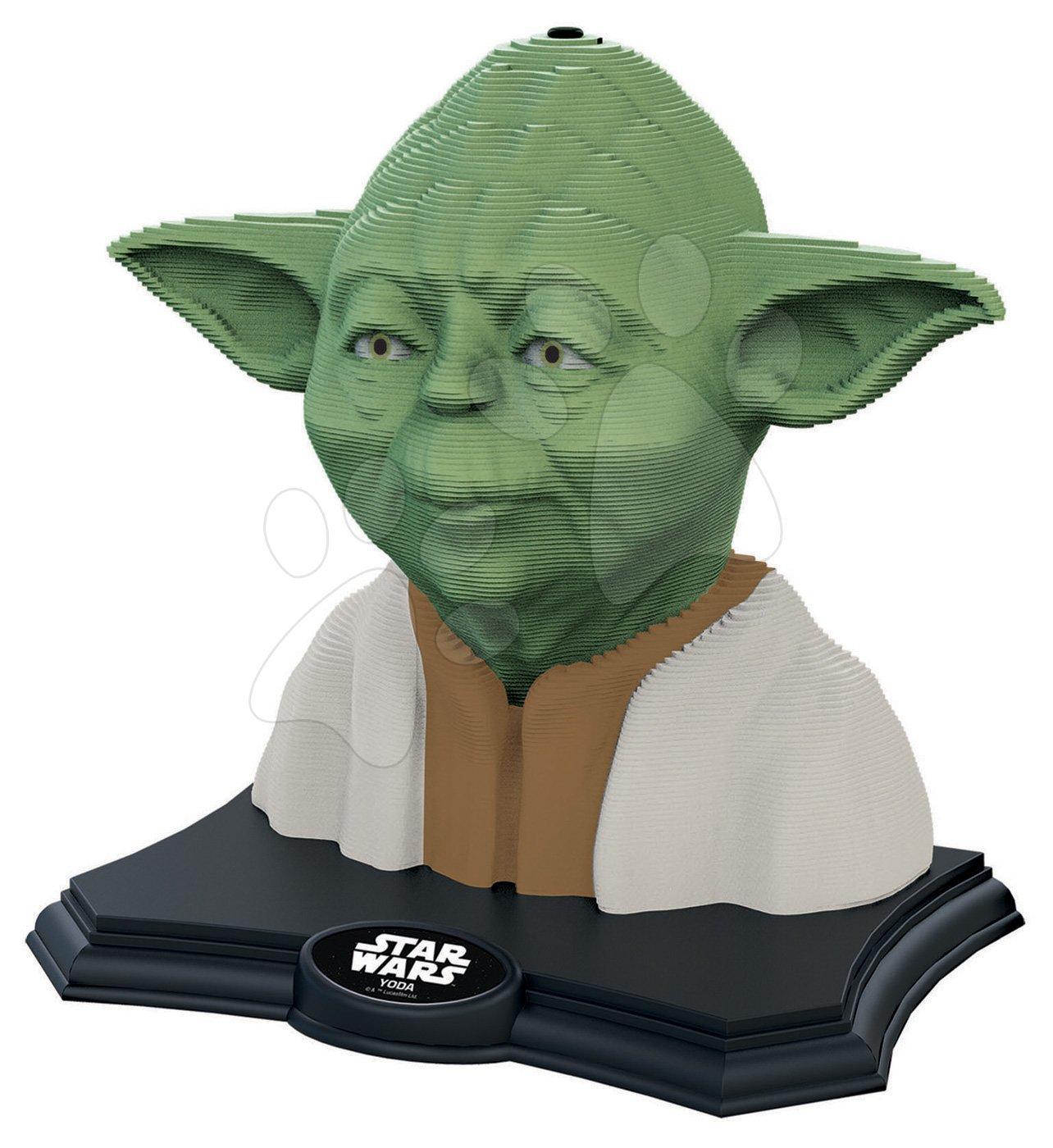 3D SCULPTURE sochárske puzzle - STAR WARS Yoda Color edition 160 dílů od 6 let