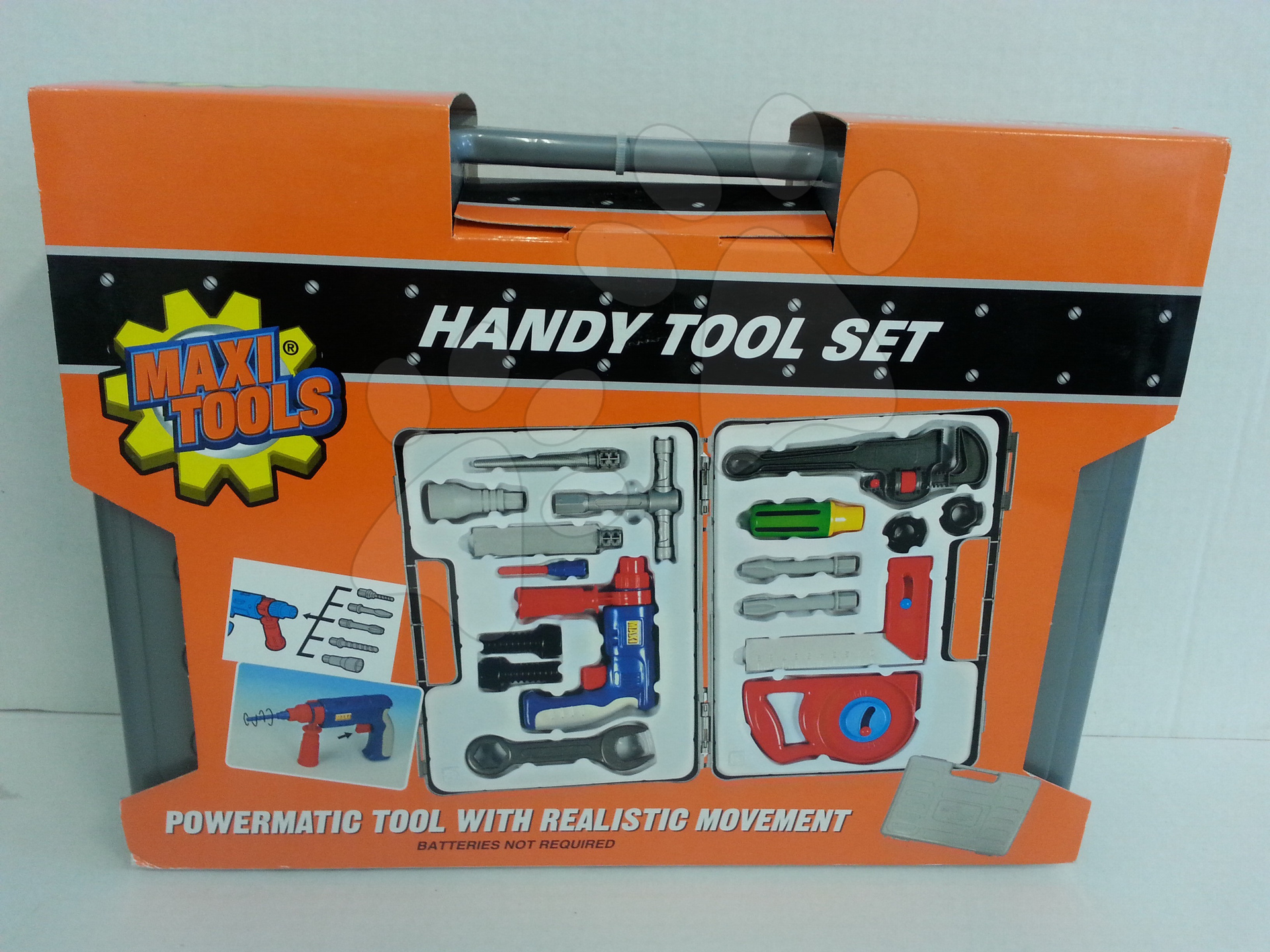Pracovní kufřík s nářadím Maxi Tools Smoby a elektronickou vrtačkou