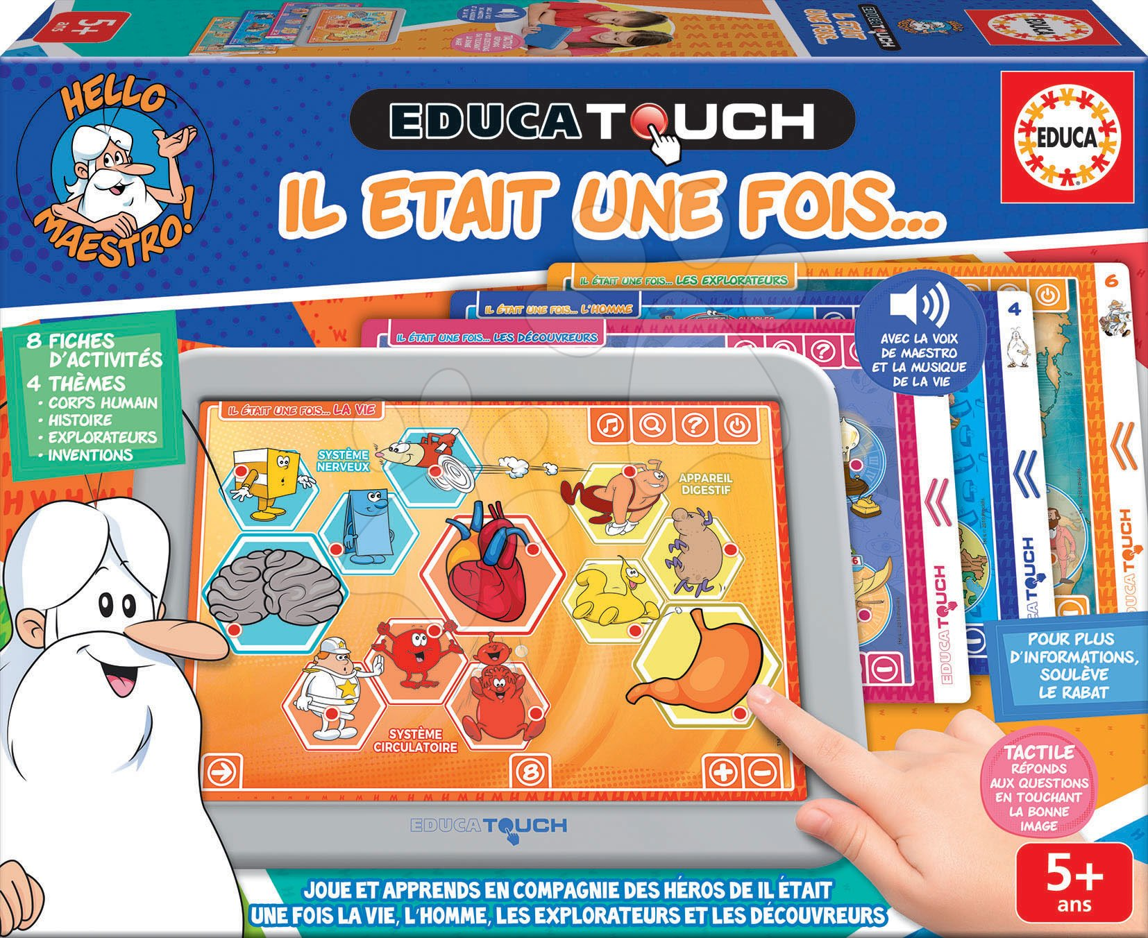 Tablet elektronický Hello Maestro Contens Educa pre deti od 5 rokov francúzsky - vysvetľuje svet okolo nás