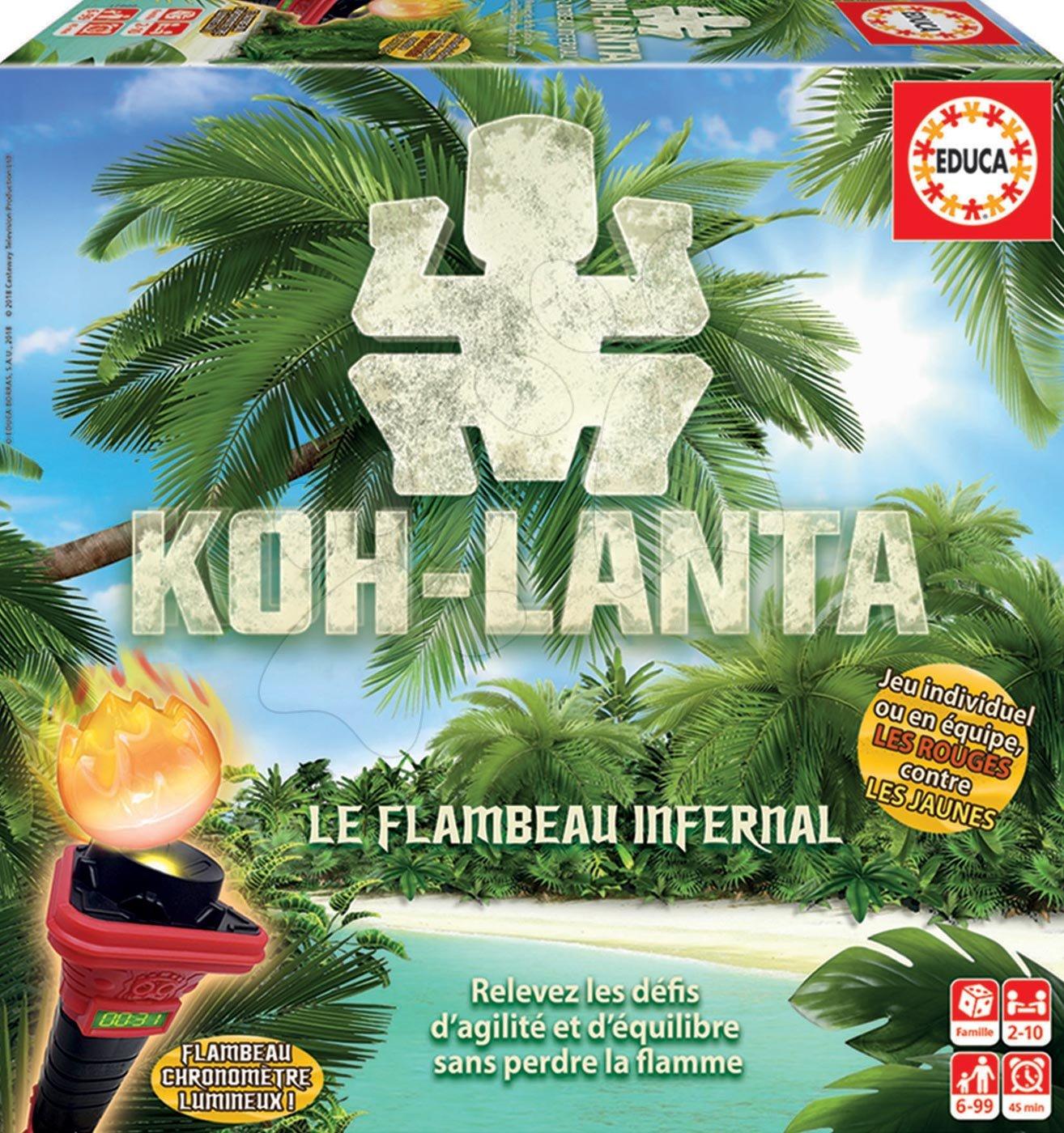 Spoločenská hra Koh Lanta Thajský tajomný ostrov Educa od 2-4 hráčov po francúzsky od 6-99 rokov