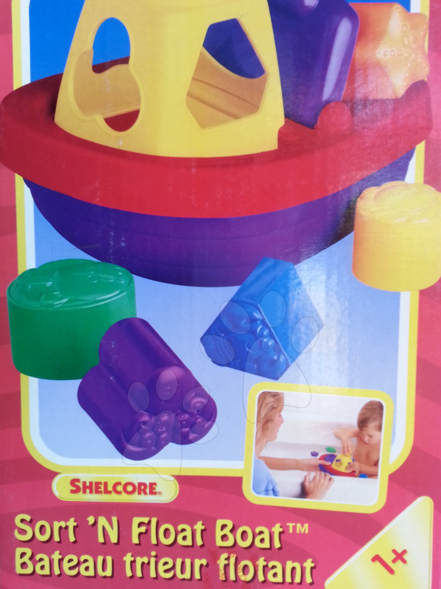 Hračky do vane - Vkladacia loďka Shelcore plávajúca farebná