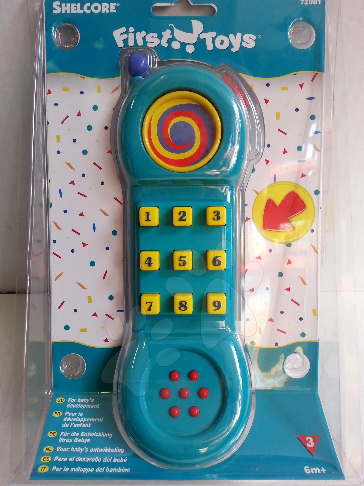 Hračky zvukové - Mobilný telefón Shelcore od 6 mes
