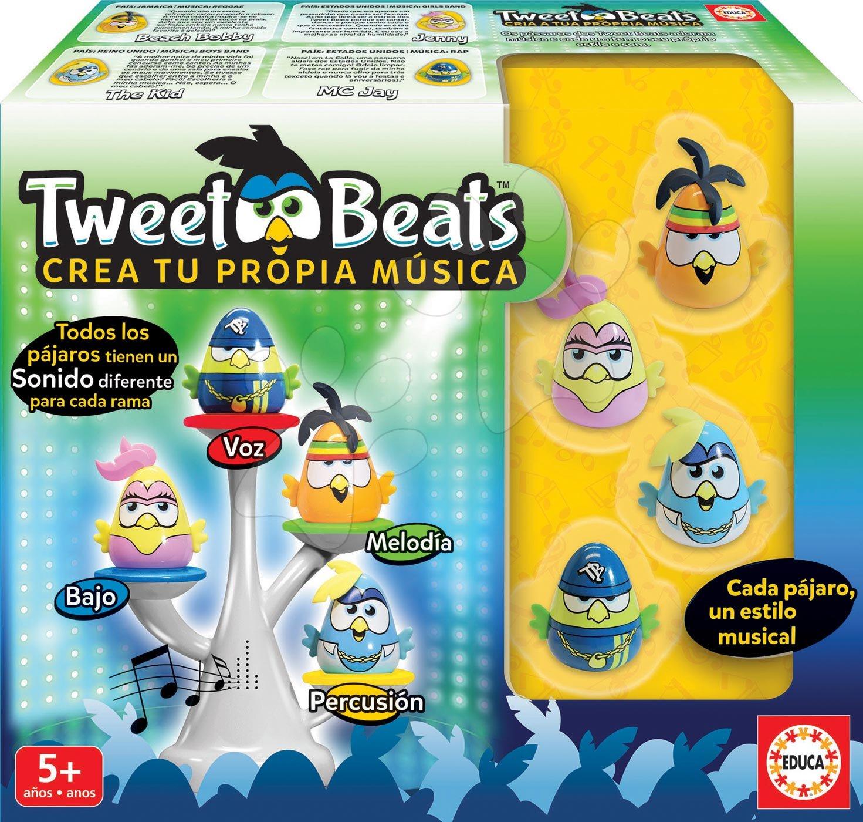 Cudzojazyčné spoločenské hry - Spoločenská hra Tweet Beats Educa po španielsky od 5 rokov