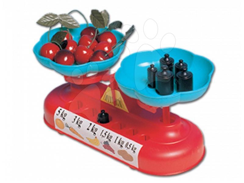 Kuhinjska tehtnica Dohány z utežmi dvostranska rdeče modra