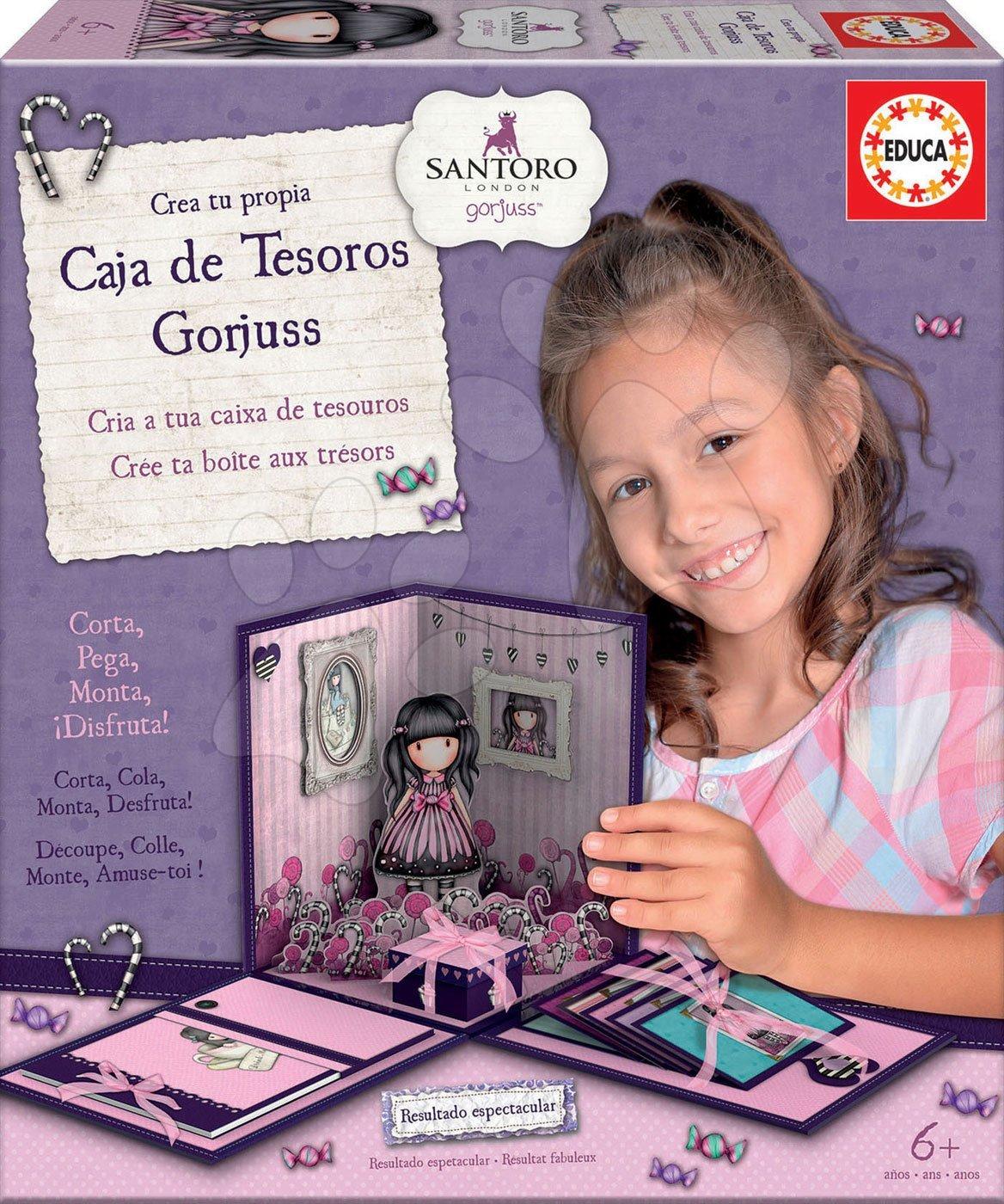 Tajomstvá dievčat Santoro London Gorjuss Educa pre šikuľky od 6 rokov