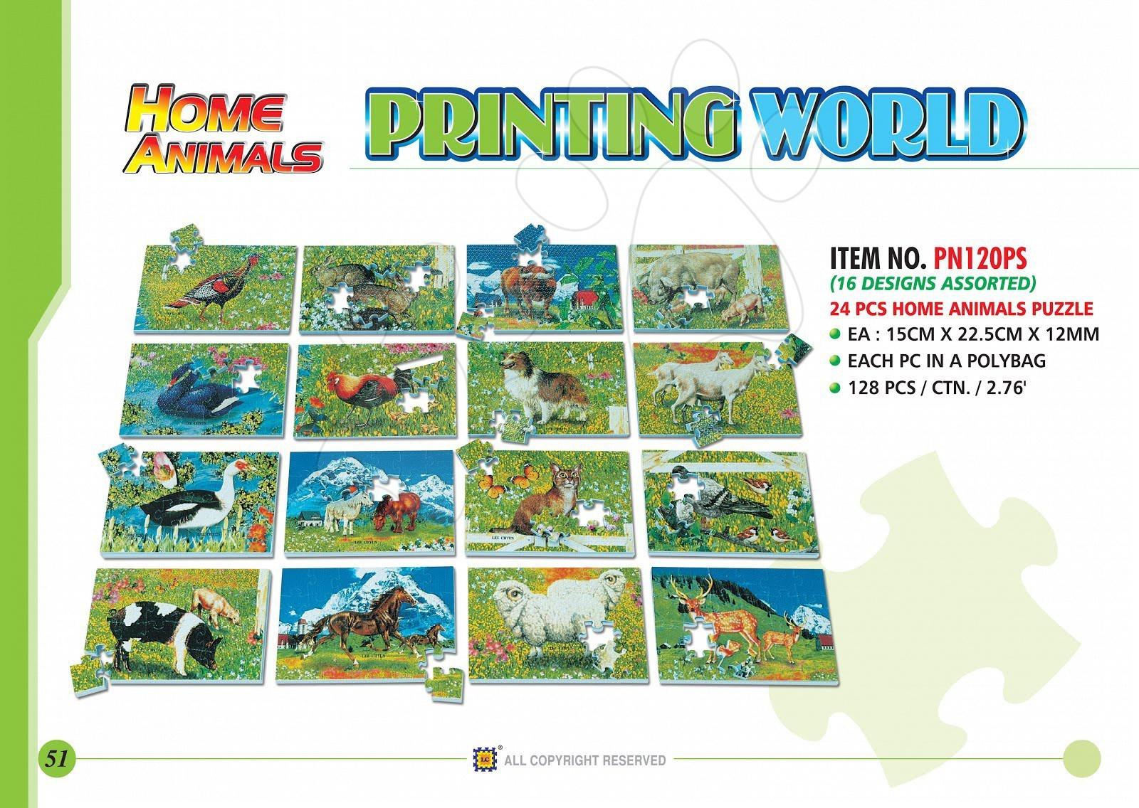 Penové puzzle Domáce zvieratká Lee 24 dielov