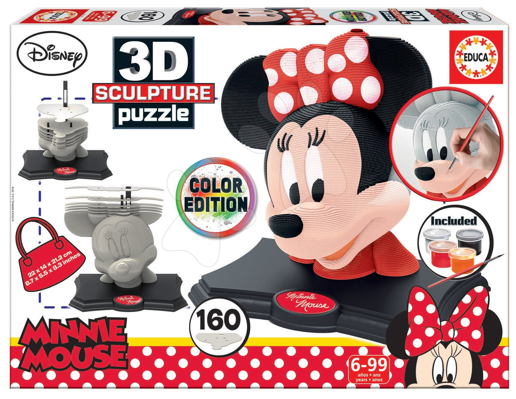 Puzzle 3D Sculpture Minnie Educa Colour edition 160 dielov EDU17930