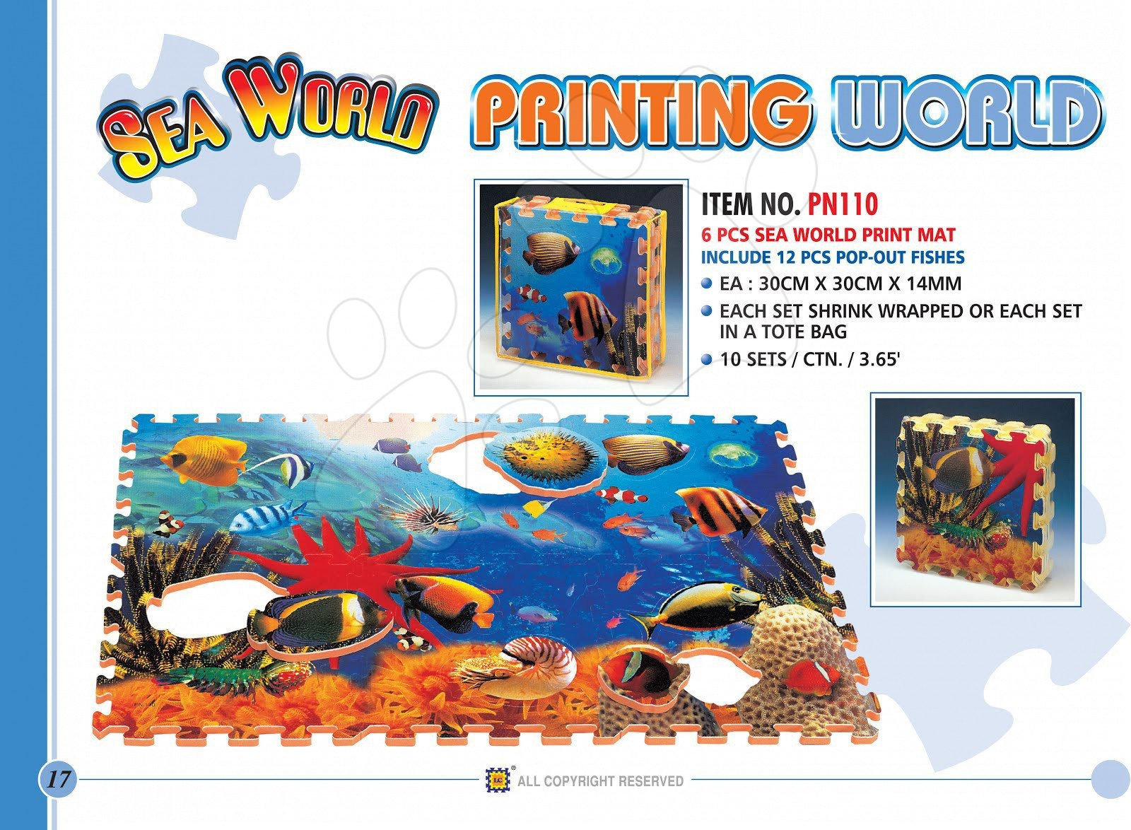 Penové puzzle Rybičky Pop Out Fish Lee 6 dielov
