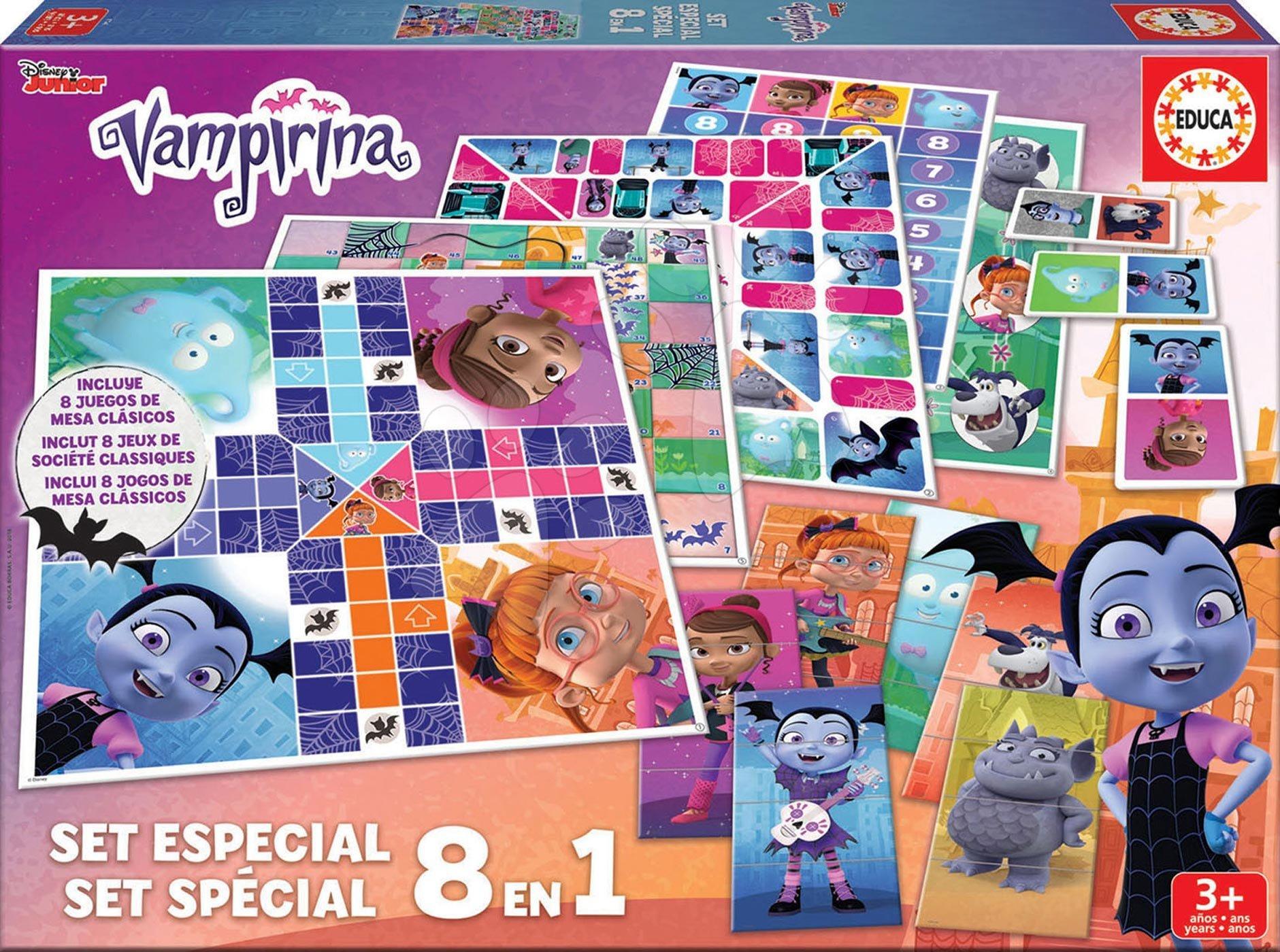 Detské spoločenské hry Vampirina 8v1 Special game set Educa od 4 rokov