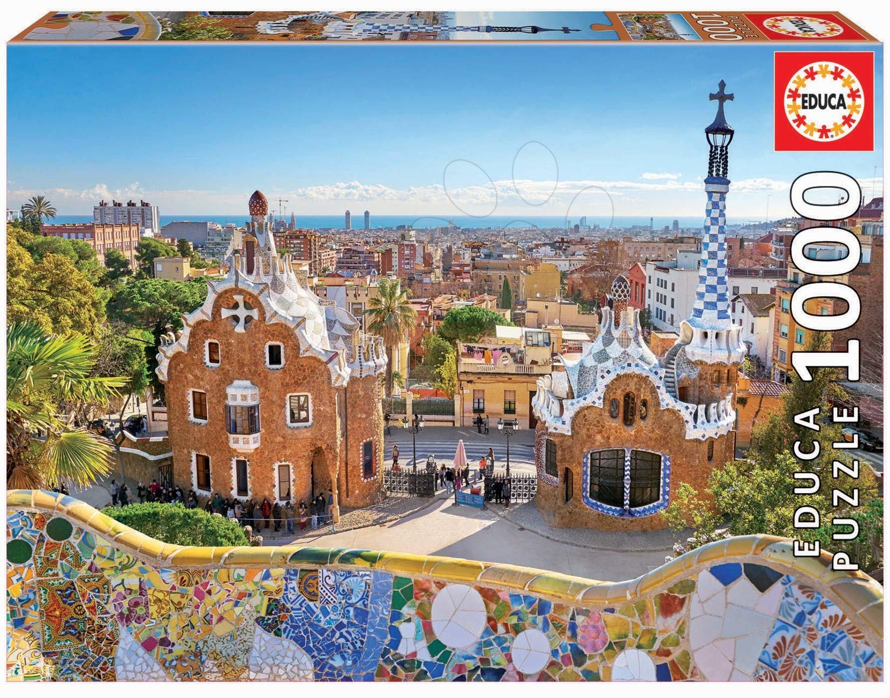 Puzzle Barcelona View from Park Guell Educa 1000 piese și lipici Fix puzzle de la 11 ani