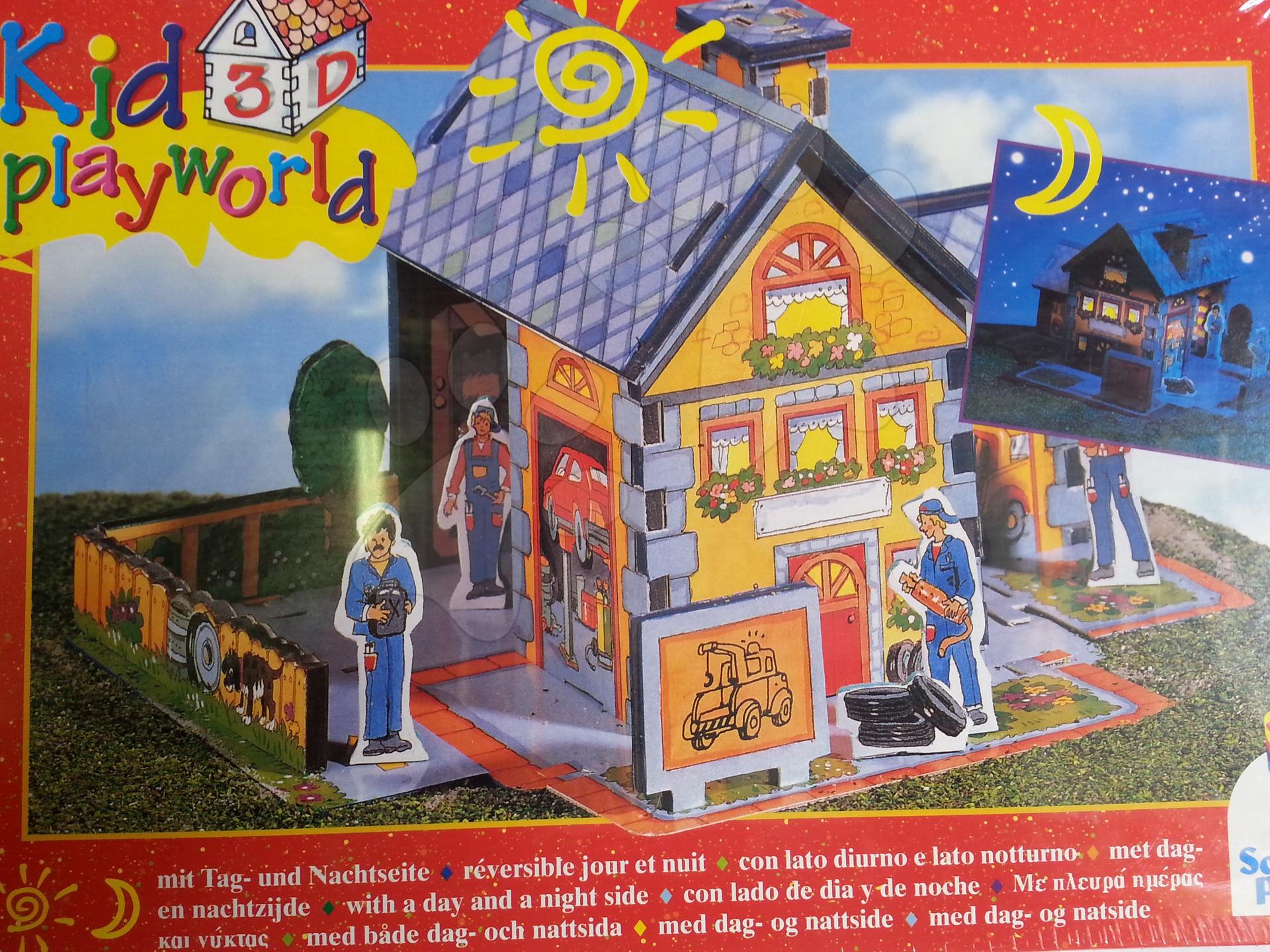 3D puzzle Kid Playworld různé druhy domků