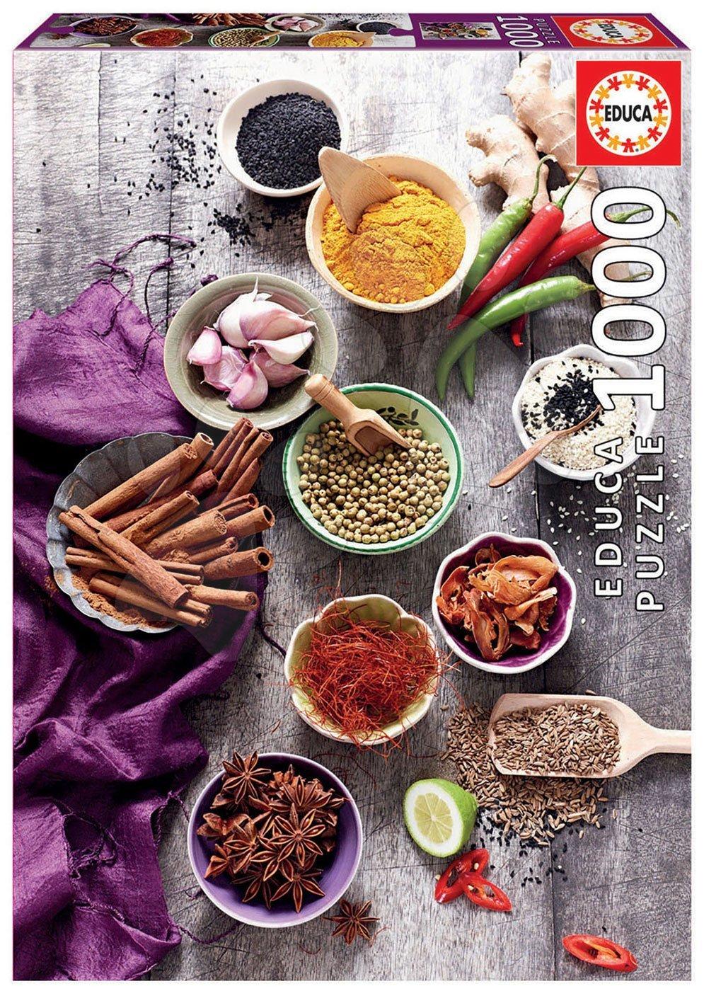Puzzle Assorted Spices Educa 1000 piese și lipici Fix puzzle de la 11 ani