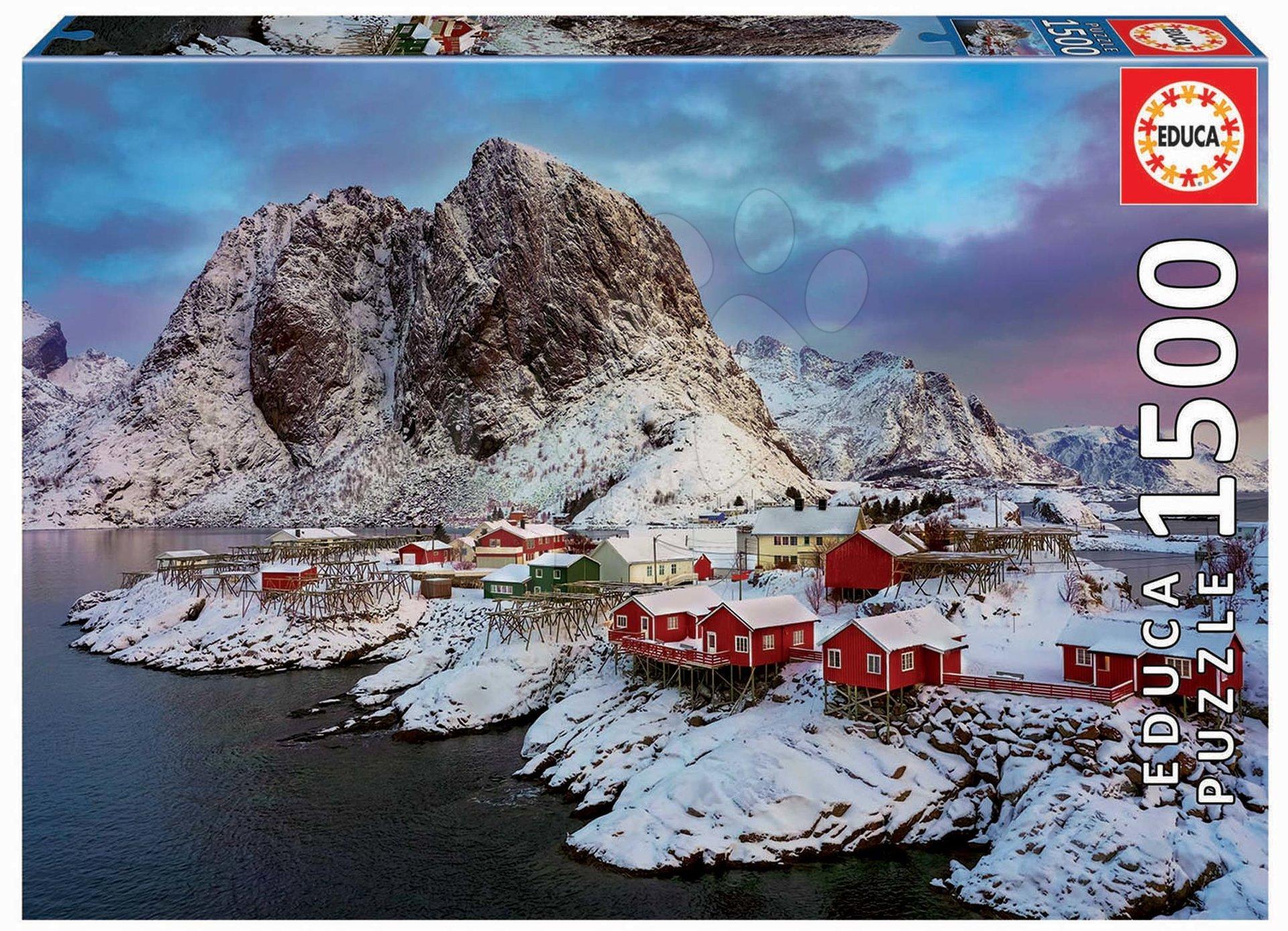 Puzzle Lofoten Islands Norway Educa 1500 dielov a Fix lepidlo od 11 rokov