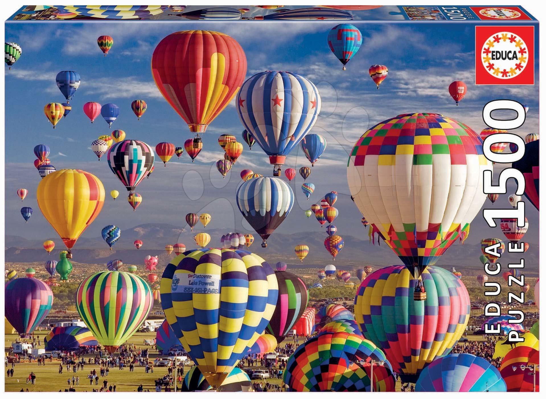 Puzzle Hot Air Balloons Educa 1500 dielov a Fix lepidlo od 11 rokov