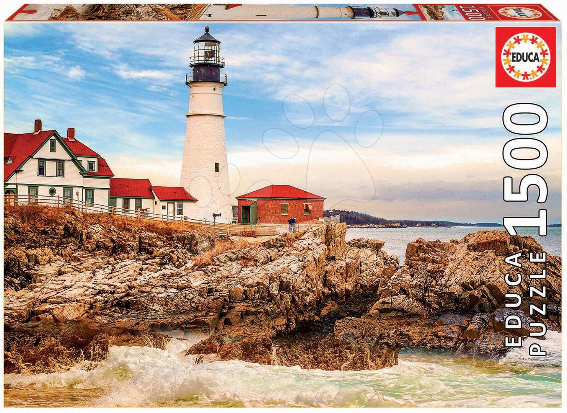 Puzzle Rocky Lighthouse Educa 1500 dílků a Fix lepidlo od 11 let