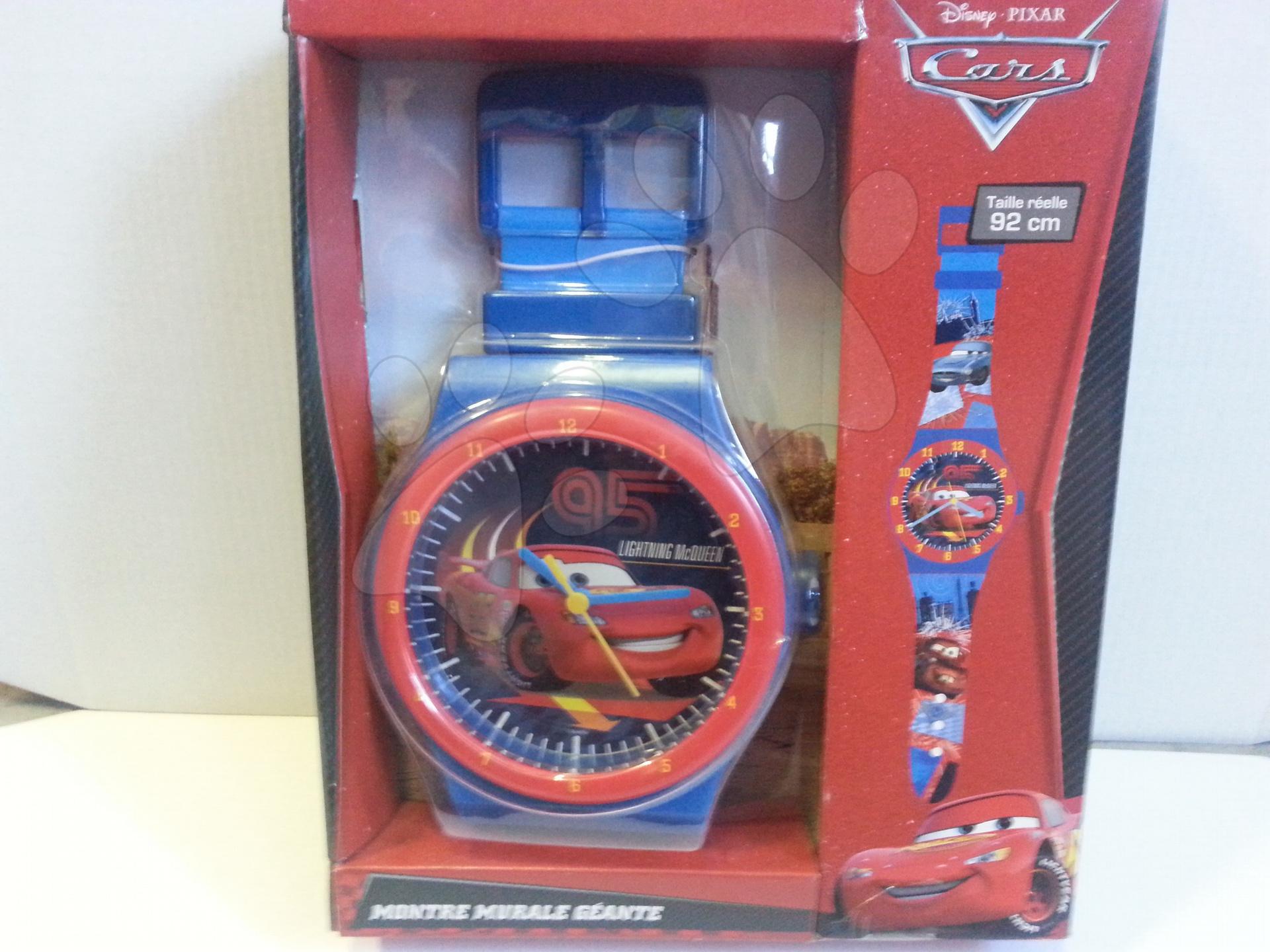 Nástěnné hodiny Cars s náramkem 92 cm