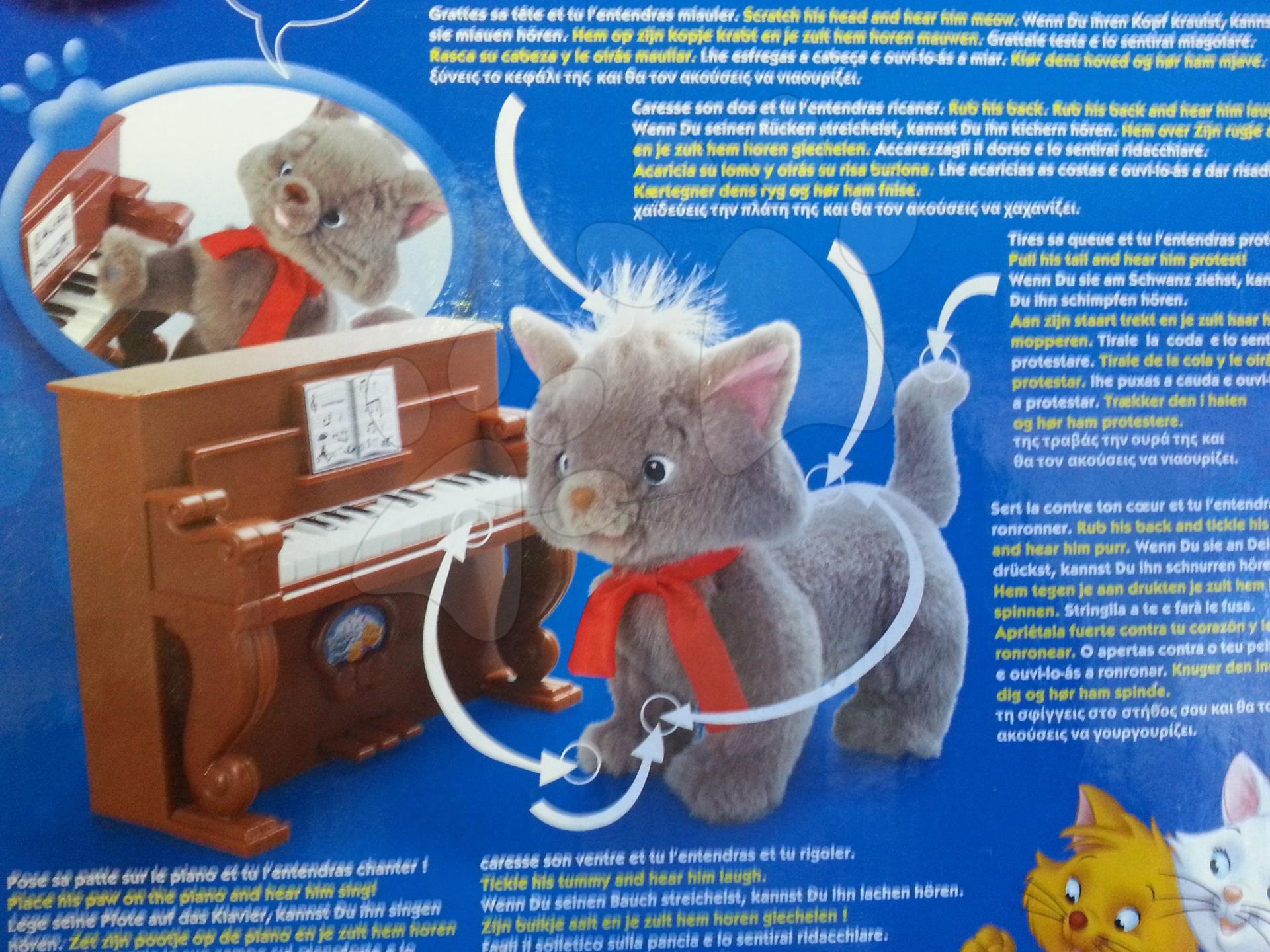 Staré položky - Mačka s klavírom