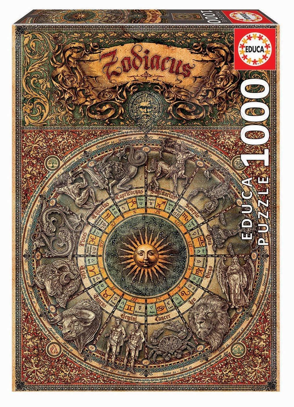 Puzzle Zodiac Educa 1000 piese şi lipici Fix