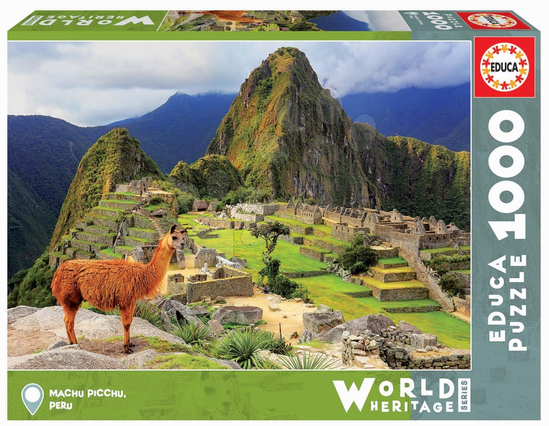 Puzzle Machu Picchu Educa cu 1000 piese şi lipici Fix de la 11 ani