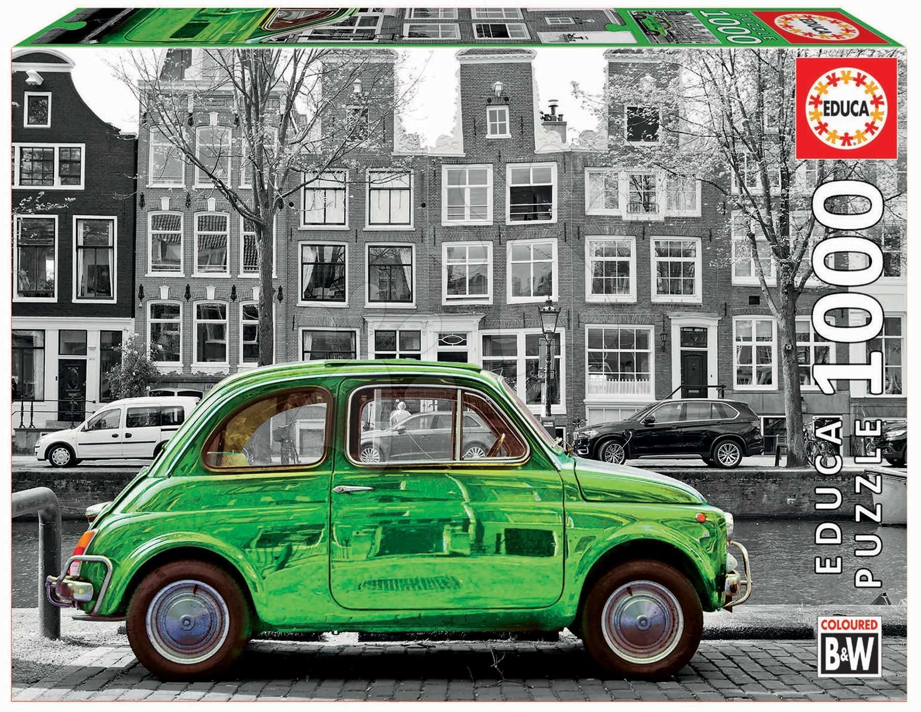 Puzzle Black&White Car in Amsterdam Educa cu 1000 piese şi lipici Fix de la 11 ani