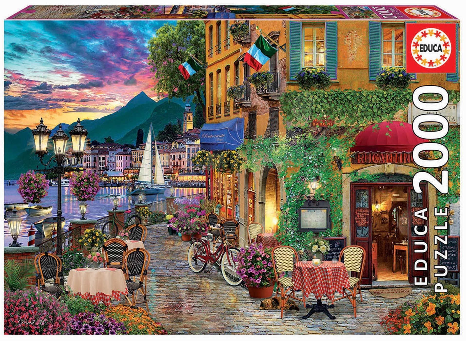 Puzzle Italian Fascino Educa 2000 dielov a Fix lepidlo od 11 rokov