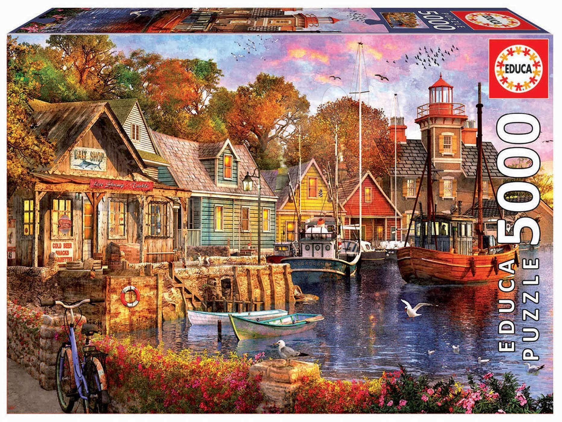 Puzzle The harbour evening Educa 5000 dielov od 11 rokov