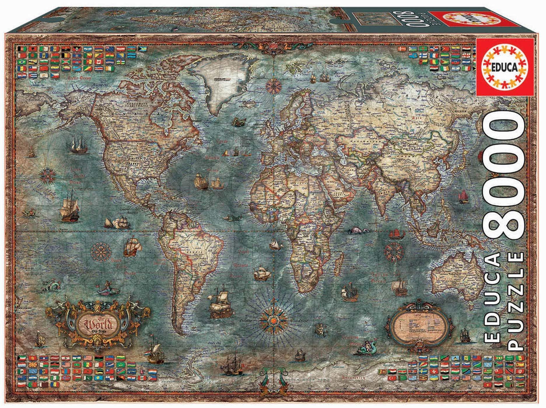 Puzzle Historical World Map Educa 8000 dílků od 11 let