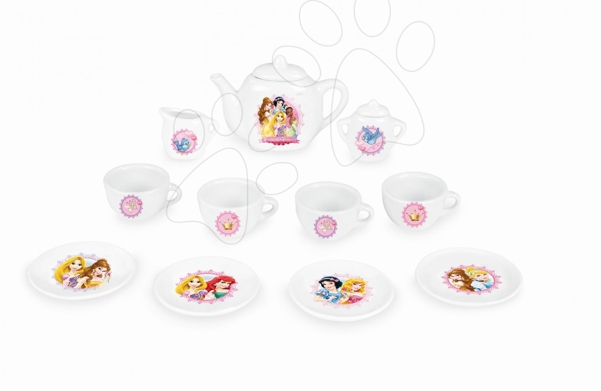 Dětská čajová souprava Princezny Smoby porcelánová s 12 doplňky