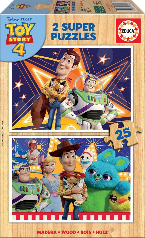 Drevené Disney puzzle - Drevené puzzle pre deti Toy Story Educa 2x25 dielov od 4 rokov
