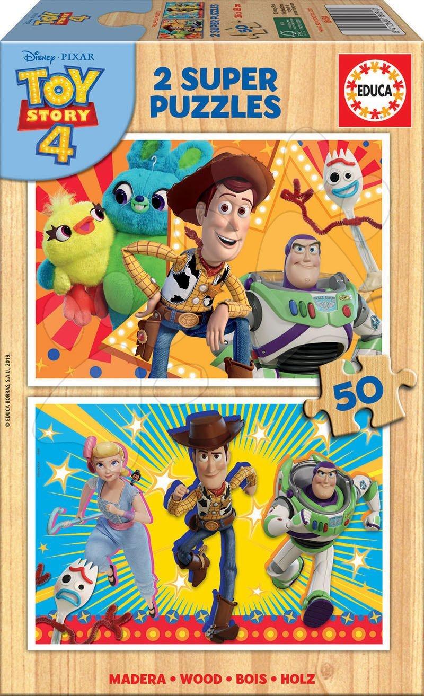 Drevené puzzle pre deti Toy Story Educa 2x50 dielov od 5 rokov