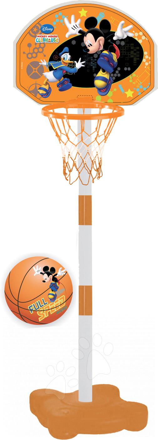 Mondo basketbalový kôš so stojanom a loptou Mickey 18085 oranžový