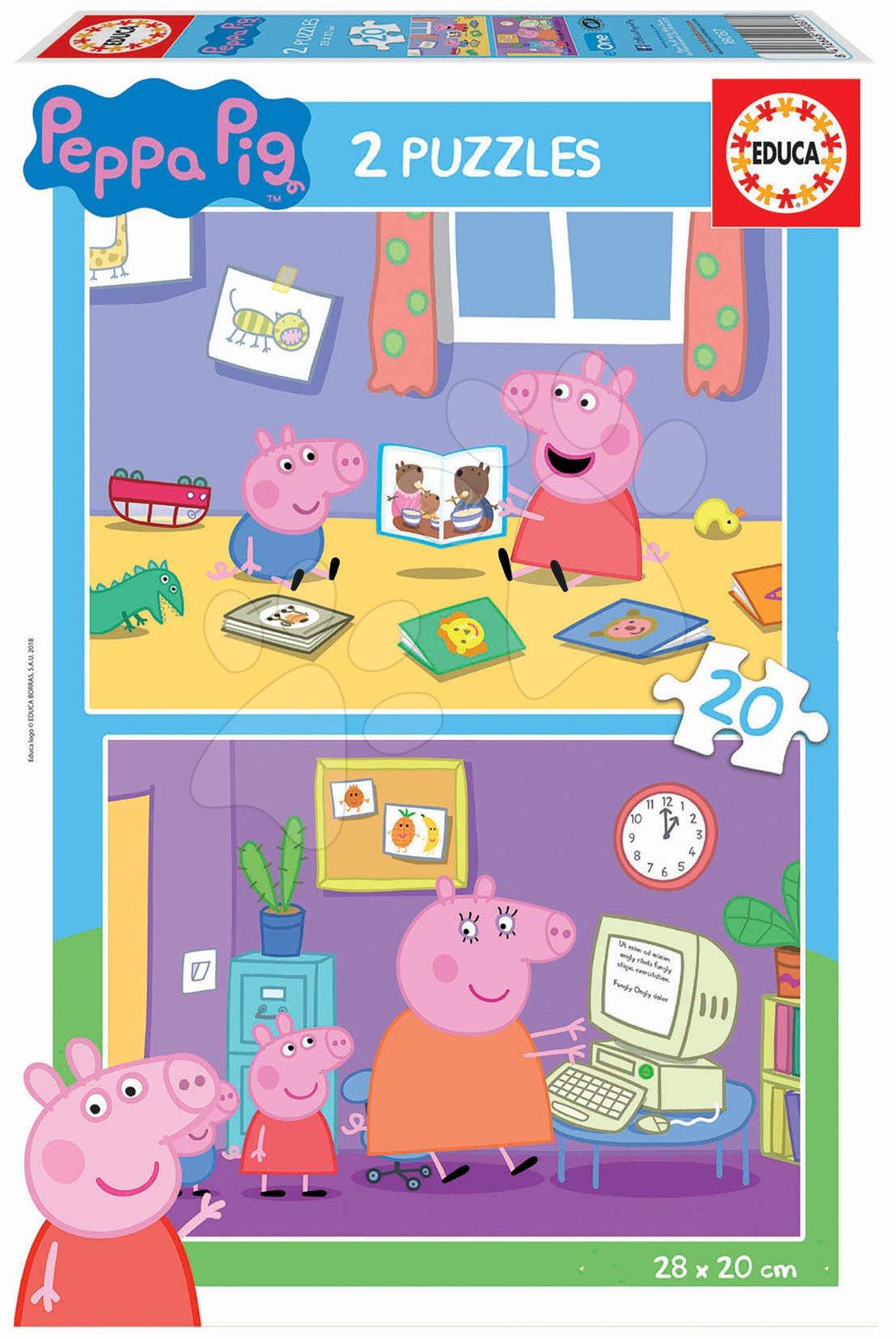 Puzzle Peppa Pig Educa 2 x 20 dílků od 4 let
