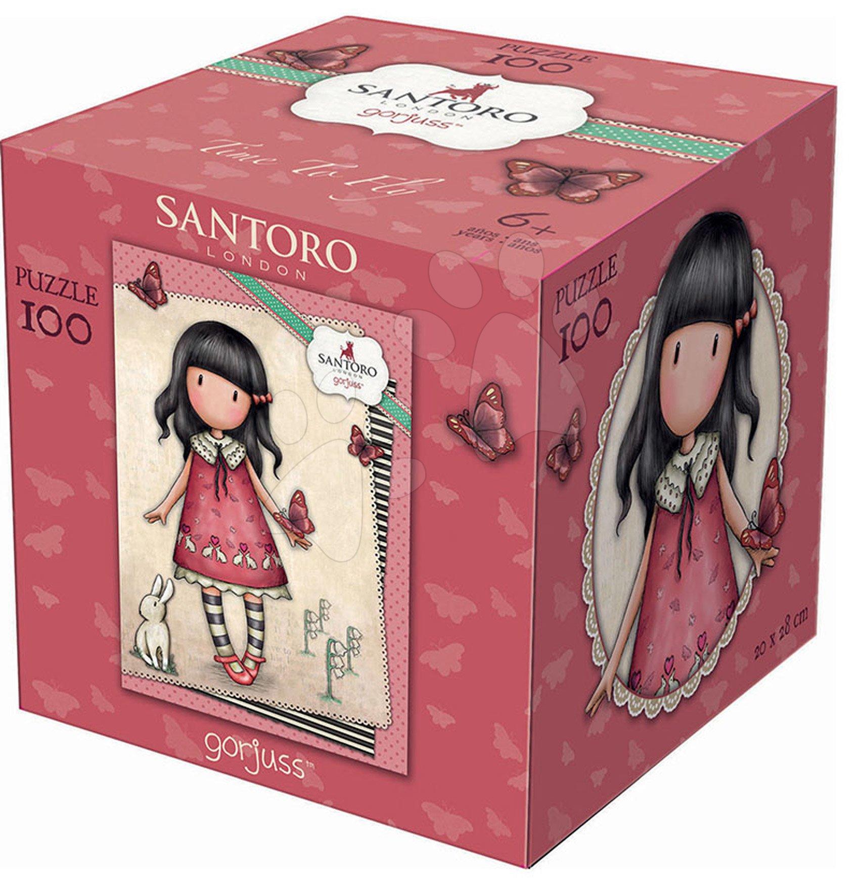 Puzzle Mini Cubes Santoro London Gorjuss Time to Fly Educa 100 dílků od 6 let