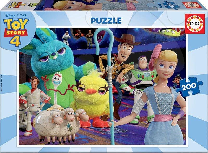 Detské puzzle od 100-300 dielov - Puzzle Toy Story 4 Educa 200 dielov od 8 rokov