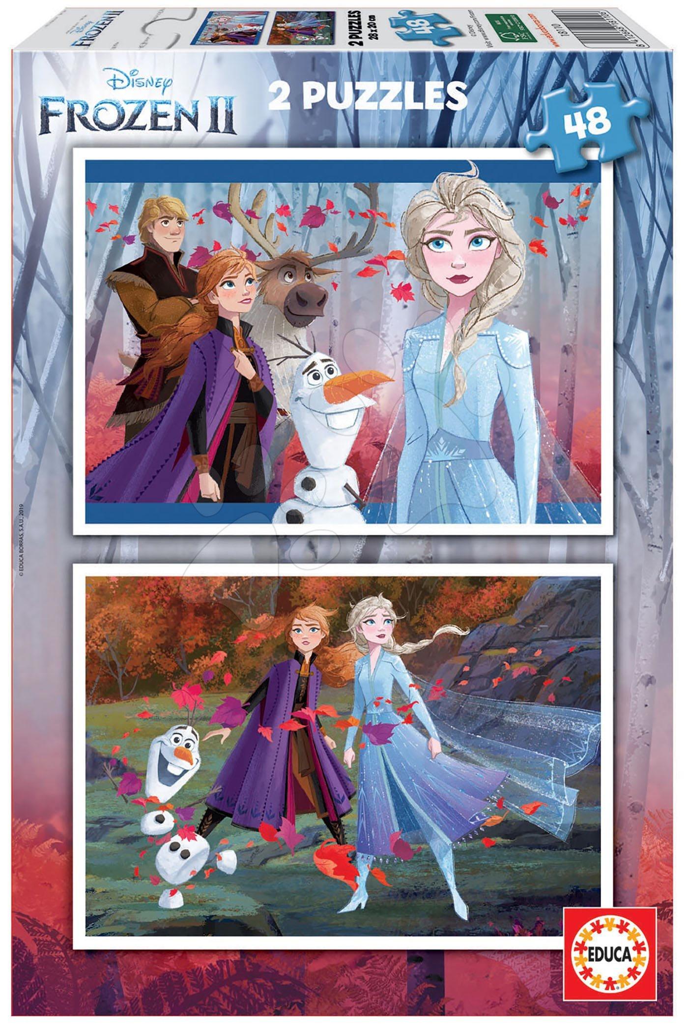 Puzzle Frozen 2 Disney Educa 2x48 dielov od 4 rokov