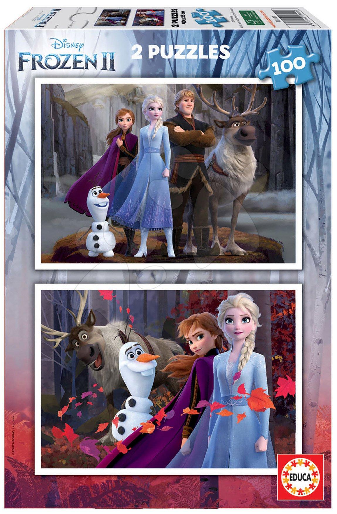 Puzzle Frozen 2 Disney Educa 2x100 dielov od 6 rokov