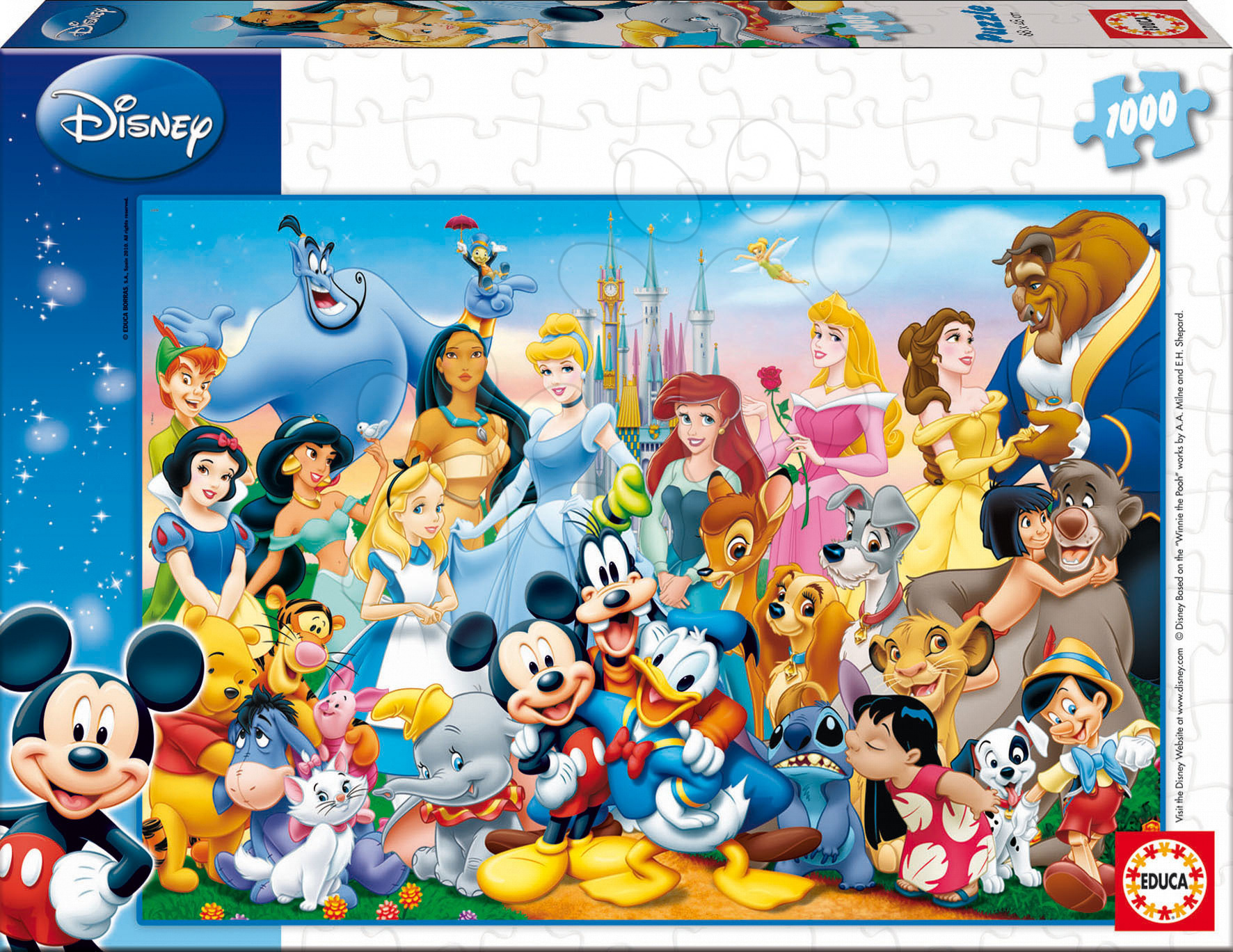 Puzzle Disney Family The Wonderful World of Disney Educa 1000 dielov