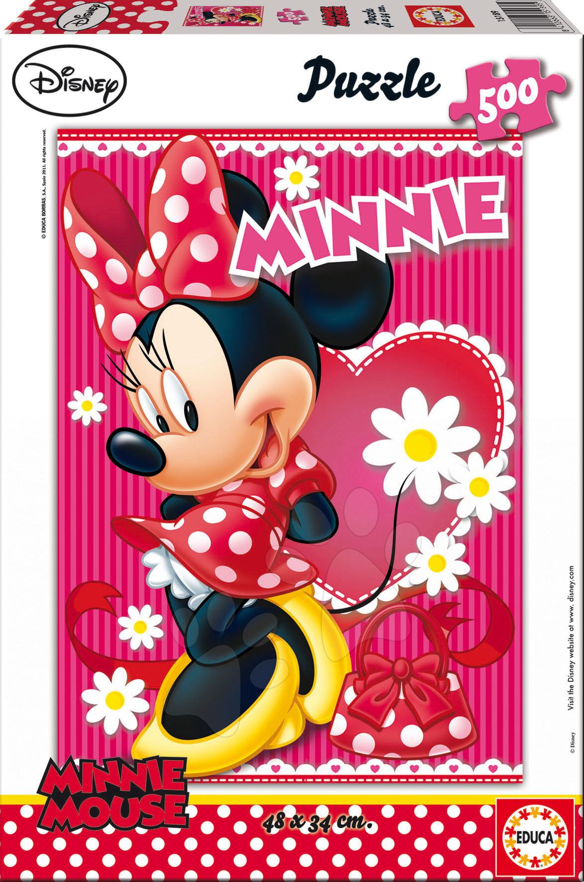 Puzzle 500 dielne - Puzzle Disney Rodina Minnie Mouse Educa 500 dielov od 11 rokov