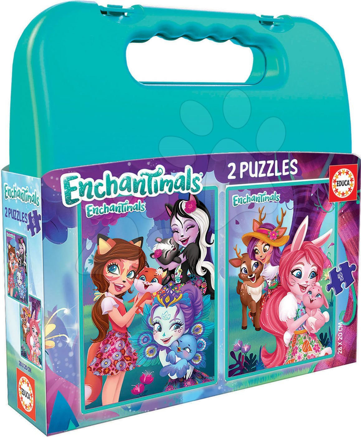 Puzzle v kufříku Enchantimals Educa Case 2 x 48 dílů od 5 let