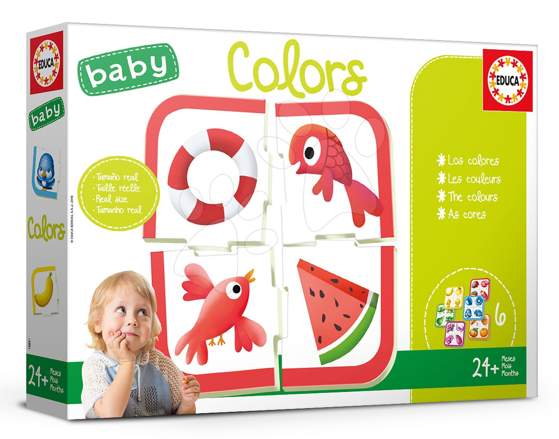 Educa náučná hra pre najmenších Baby Colours Učíme sa farby 18119
