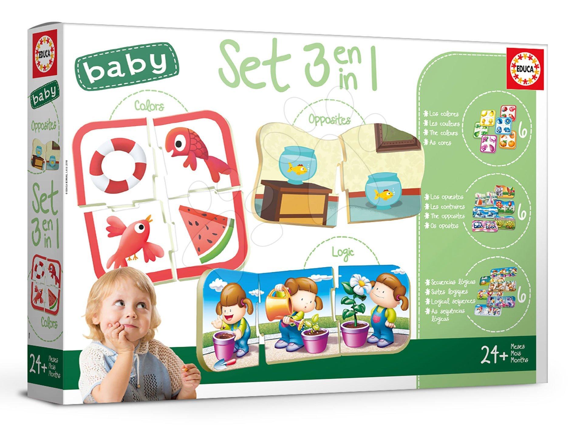 Náučné hry pre najmenších Baby Colours&Form&Opposites Educa Učíme sa farby tvary a protiklady od 24 mes EDU18123