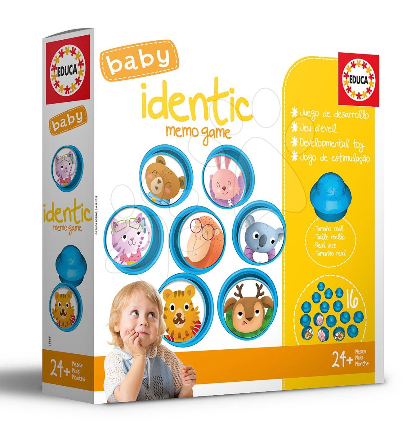 Náučná hra pre najmenších Baby Identic Memo Game Educa Pexeso zvieratká v hríbikoch od 24 mes