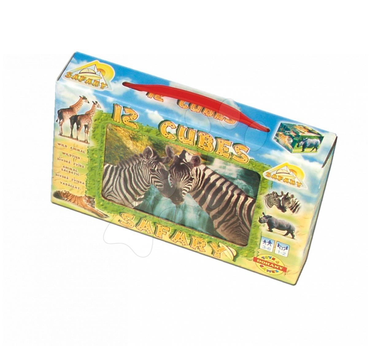 Otroške pravljične kocke - Otroške pravljične kocke Safari Dohány 12 delov