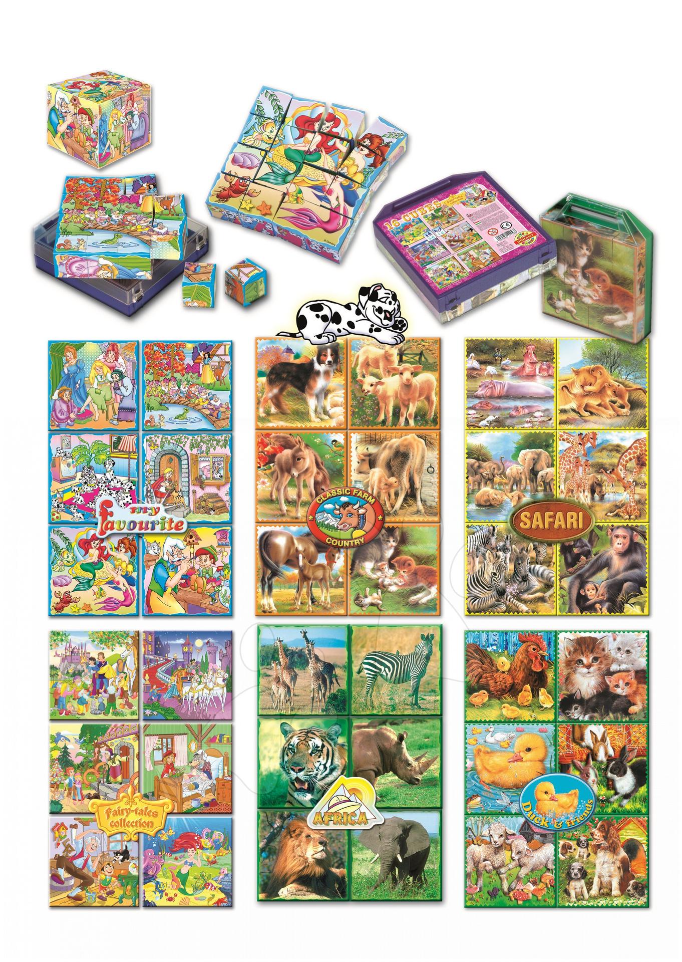 Cuburi cu poveşti Colecţia mea preferată de poveşti Dohány 16 piese