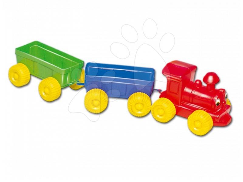 Tahací hračky - Vláček na tahání Dohány s vagony