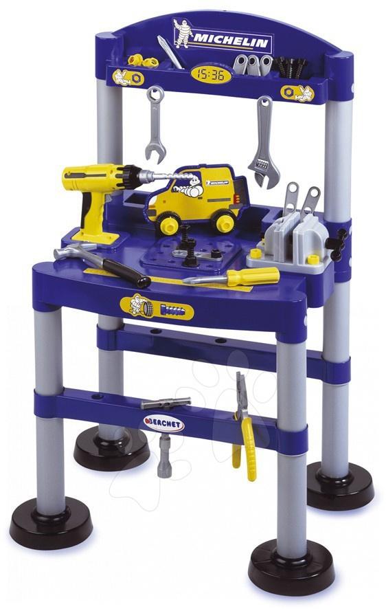 Pracovní dětská dílna - Pracovní stůl Michelin Smoby elektronický s 44 doplňky