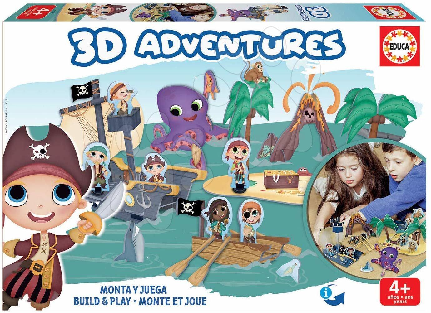 Puzzle dobrodružstvo 3D Piráti Educa od 4 rokov
