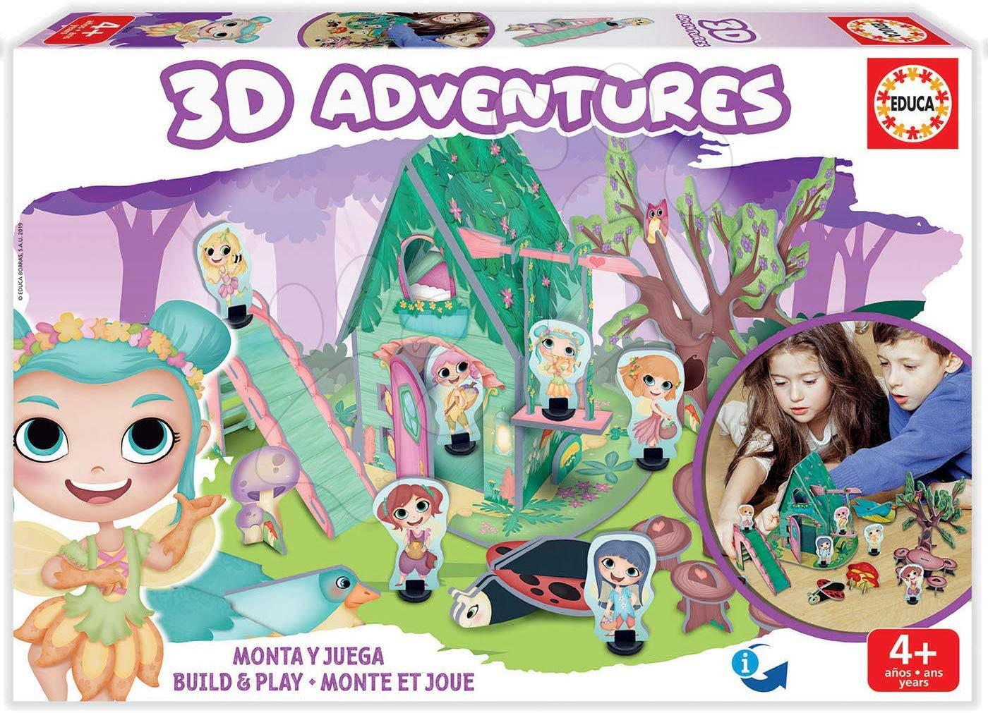 Puzzle dobrodružstvo 3D Lesné princezné Educa od 4 rokov