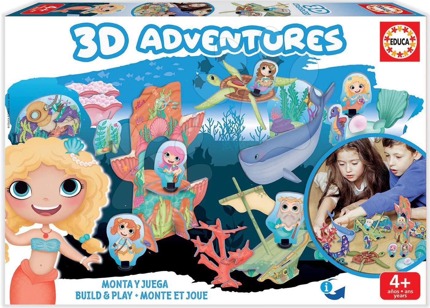 Puzzle dobrodružstvo 3D Morské princezné Educa od 4 rokov